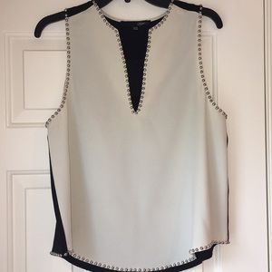 Sugar Lips studded  two-tone tank top!! NWOT!